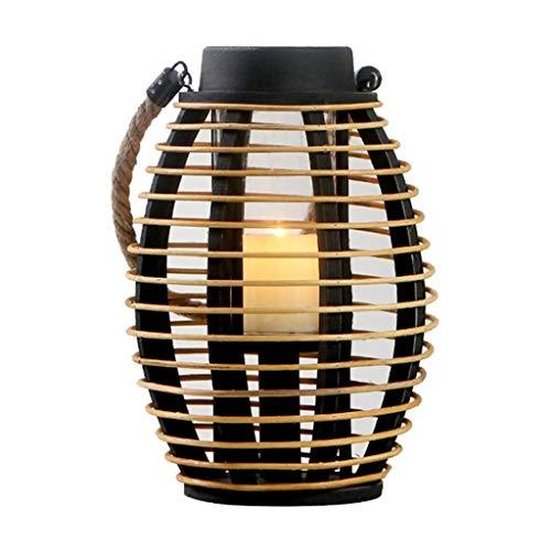 (Candelabras Candlestick Outdoor Twine Portable Wooden Candlestick Lamp Pendant Creative American Garden Ornament (Color : Brown, Size : 1928cm))