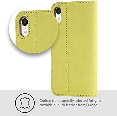 Amazon.com: Funda para iPhone XR, de piel auténtica de lujo ...