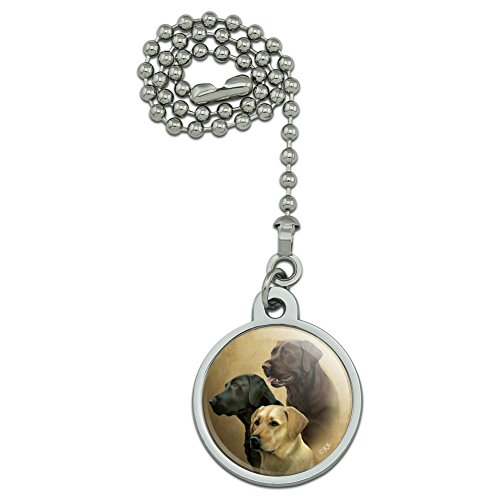 - GRAPHICS & MORE Labrador Retriever Trio Dogs Portrait Ceiling Fan and Light Pull Chain
