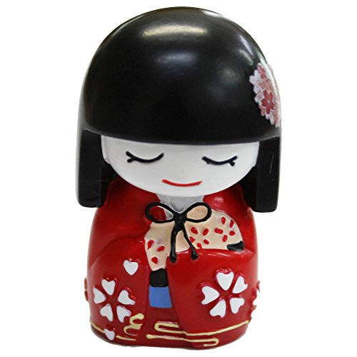 Japanese Mai Kokeshi Doll Red