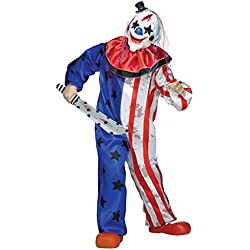 Fun World Evil Clown Costume, Multicolor, Medium 8-10