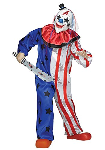 Fun World Evil Clown Costume, Large 12-14, -