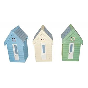 Diseño de caseta de playa multiusos caja de almacenamiento, colores varían, color verde, azul o azul claro amarillo caja de - un suministrado: Amazon.es: ...