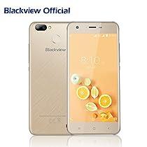 Cellulari in Offerta, Blackview A7 Pro 5.0 pollici 4G Smartphone Dual SIM con Android 7.0, 2GB RAM 16GB ROM, 2800mAh batteria, Fotocamera Posteriore 8MP/0.3MP, GPS/GLONASS/Fingerprint ID, Oro