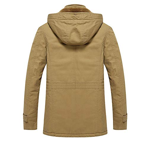 vent Travail Parka Casual Cargo coat Kaki Manteau Vestes Coupe La m À Capuche Jacket 4xl Mens Taille Plus Trench Luckygirls Manteaux Cheveux PdpZZq