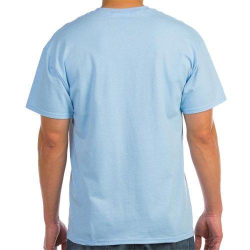 CafePress Still Plays With Blocks Ash Grey T-Shirt Light T-Shirt - L Light Blue