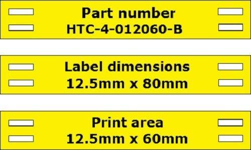Zum Anbinden Spitze Tag Kabel Draht Marker Größe 12,5 mm x 80 mm, uni, keine Markieren – Gelb 500 pcs gelb B07DLVP1H9 | Elegant