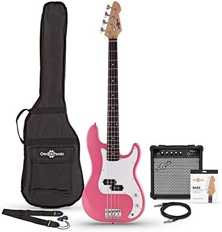Bajo Electrico LA + Pack De Amplificador Rosa: Amazon.es: Instrumentos musicales