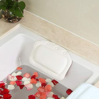 Badewannenkissen mit Saugn/äpfen als Badewannen Zubeh/ör Kissen f/ür Badewanne zum Entspannen Wohlf/ühlen Badekissen f/ür perfekte Auszeit Nackenkissen f/ür Badewanne