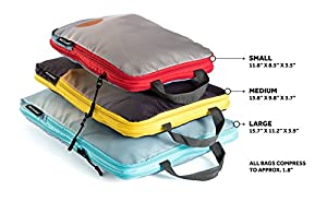 Well Traveled Compression Packing Cubes Set Travel Organizer Compression Pouches