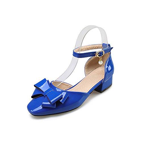 Sandali QIN Cinturino Punta Basso amp;X Alla Donna Blue Square Caviglia Tacco ffUaCzx
