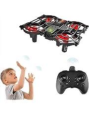 Mini Drone voor kinderen Beginners Achort 2.4G 4CH 6 Axis RC Quadcopter Interactief Infrarood Gebaarbediening Helikopter met 3D Flips Headless-modus One Key Take-off / Landing Vliegend speelgoed voor kinderen