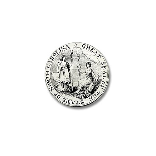 CafePress - North Carolina State Seal Mini Button - 1