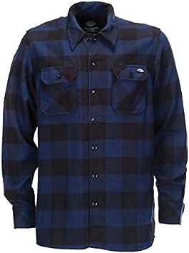 Camisa de Hombre Dickies Sacramento Manga Larga Azul 2XL Azul/Negro: Amazon.es: Coche y moto