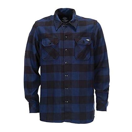 Camisa de Hombre Dickies Sacramento Manga Larga Azul 3XL Azul ...