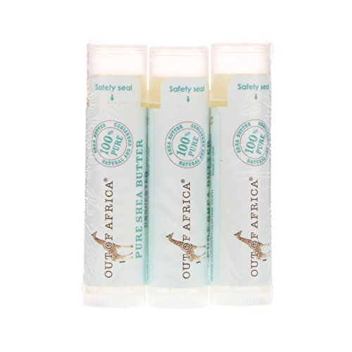 Out of Africa Pure Shea Butter Lip Balm Unscented 3 Pack 0 15 oz 4 g Each