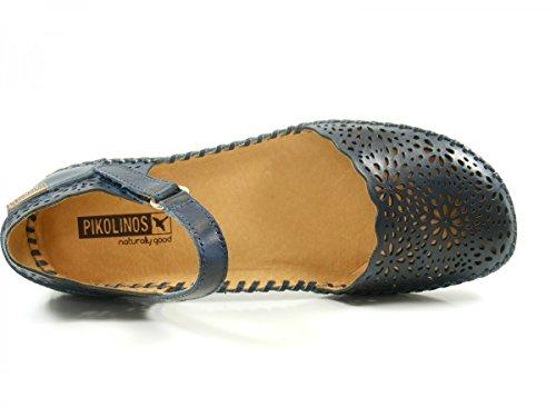 Pikolinos P Vallarta 655_v17, Sandalias con Cuña para Mujer Blau