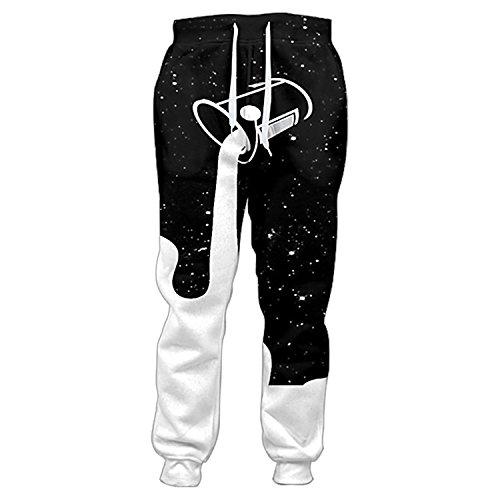 Cheap Frozac Mens Pants Joggers Pantalones Hombre Galaxy 3D Casual Pants Milk Bucket Pants M supplier
