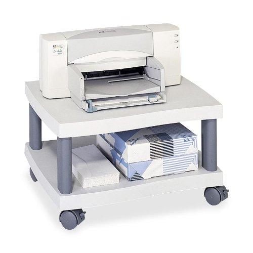 (Safco® Wave Design Underdesk Printer Stand STAND,PRNTR,UNDER DESK,GY 2979814 (Pack of 2))