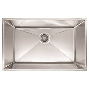 Franke PEX110-31 Planar 32 1/2 x 18 1/2 x 9 1/2 18 Gauge Undermount Single Bowl Stainless Steel Kitchen Sink