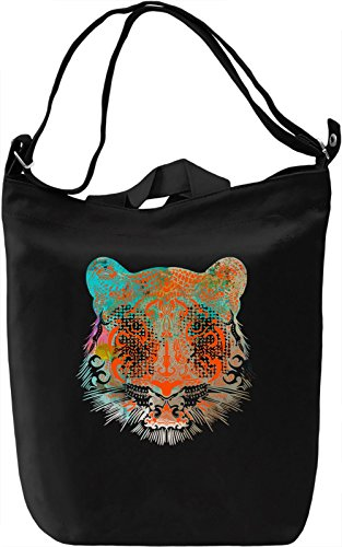 Psychedelic Tiger Borsa Giornaliera Canvas Canvas Day Bag| 100% Premium Cotton Canvas| DTG Printing|