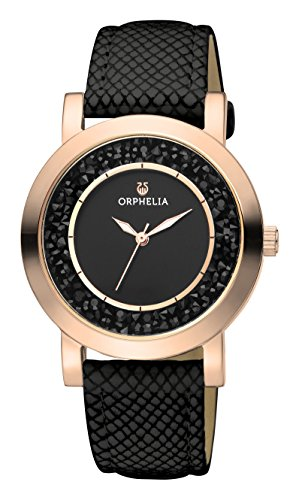 ORPHELIA Hermosa Women's Black Leather watch-OR11702