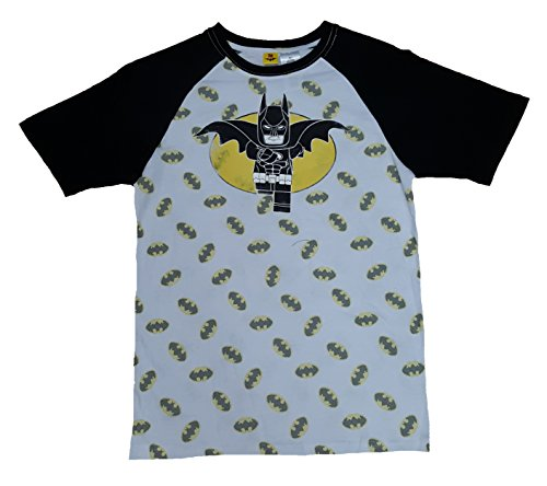 LEGO DC Comics Batman Movie Batman & Logos All Over White Graphic T-Shirt