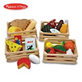 Melissa & Doug Food Groups - Wooden Play Food, Pretend Play, 21 Hand-Painted Wooden Pieces and 4 Crates, 31.75 cm H x 22.225 cm W x 31.75 cm L