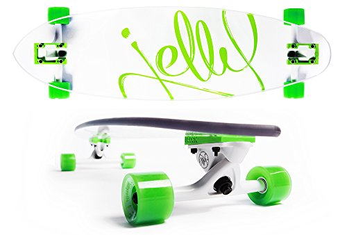 "Jelly Skateboards Man O' War Longboard Complete, 34"" L, Lime"