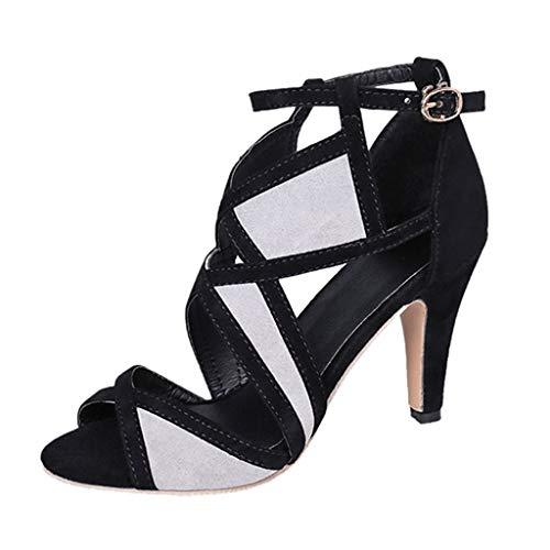 ✔ Hypothesis_X ☎ Toe Stiletto Open Toe Shoes Women Sandals Sexy Non-Slip Nightclub Stiletto Sandals Shoes -