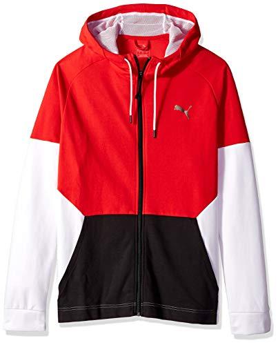 PUMA Men's A.C.E. Sweat Jacket, high Risk red/White - Sweat Jacket Red