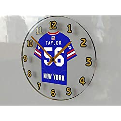 FanPlastic Lawrence 'LT' Taylor 56 New York Giants Wall Clock - National Football League Legends Edition !!
