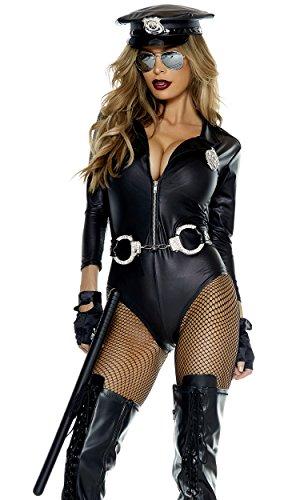 [Forplay Women's Do Not Cross Costume, Black, Medium/Large] (Forplay Costumes 2016)