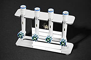 OCTOPODIS Stainless steel electric toothbrush head holder, compatible with Oralb Braun, SoniCare, Fairywill, Waterpik, adhesive or free standing