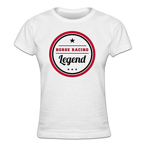 (Shirtcity Horse Racing Legend Women's T-shirt L White)