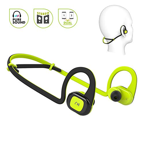 Sport Bluetooth Headphones with Mic, Noice Cancelling Wireless Headphones HiFi Stereo Bluetooth Earbuds in Ear Earphones 8 Hours Playtime Richer Bass Bluetooth Headset for Running Gym Workout