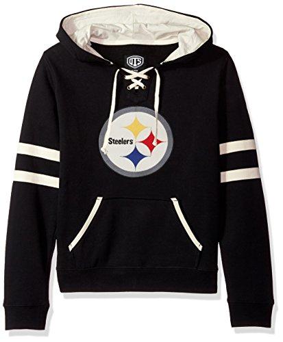 Pittsburgh Steelers Womens Accessories (NFL Pittsburgh Steelers Women's OTS Grant Lace Up Pullover Hood, Jet Black, Large)