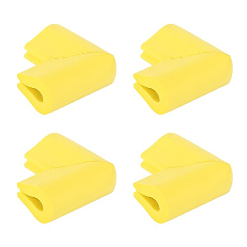4 PCS Corner Guards ProtectorsFoam Cushion Thick Baby Safety Table Cover Toddler Child Proof Anti-Collision Soft Bum pers for Furniture Cabinets Desk Corners Wall Glass Corner-Yellow from Daptsy