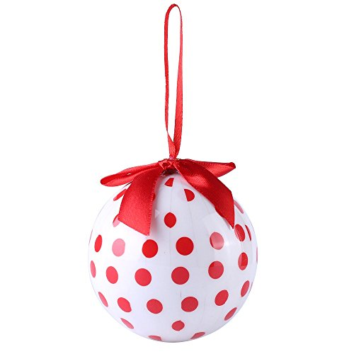 Cue Cue Festive Ready to Hang ( 24 Piece ) 12 Red + 12 White Polka Dots Ornament Set by Cue Cue (Image #3)
