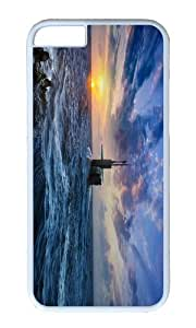 Submarine surfaced sea sunset PC White Hard Case for Apple iPhone 6(4.7 inch)