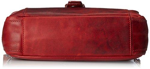 Hill Burry HB 2089-Custodia in pelle, stile Vintage Rosso vintage red vintage red