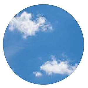alfombrilla de ratón cielo azul con nubes de cerca - ronda - 20cm