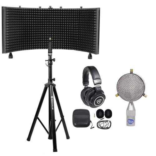 Blue Microphone Cardioid Figure 8 B2 Capsule+Isolation Shield+Stand+Headphones