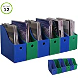 Evelots Magazine File Holder-New Heavy Duty Plastic-Organizer-4 Inch Wide-Set/12