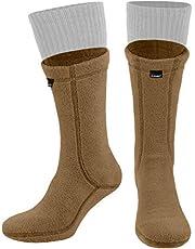 281Z Hiking Warm 8 inch Boot Liner Socks - Military Tactical Outdoor Sport - Polartec Fleece Winter Socks (Coyote Brown)