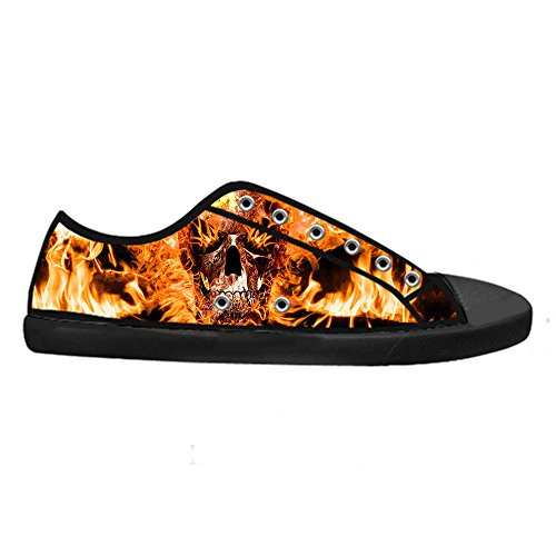 Vela Top Di Panno Up Shoes Lace Custom Scarpe Skull Tela Men' Sneakers A D High Canvas S fnHB7HS