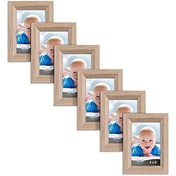 Amazon.com - DesignOvation Kieva Solid Wood 4x6 Picture Frame ...
