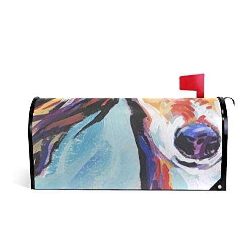 (Magnetic Mailbox Cover Saluki Hound Wrap- Standard Size 20.8