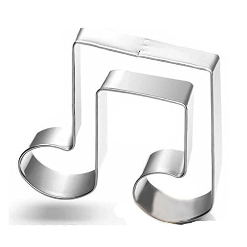 WJSYSHOP Musical Eighth Notes Music Note Cookie Cutter Stainless Steel ()