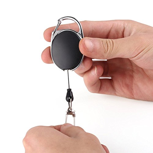 Aranher(TM) Telescopic Wire Rope Anti Lost Key Ring Keychain Retractable Gear Finder Gadget